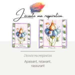 peinture-aquarelle-simplybird-collectioncartes-bien-être-actes sympathiques-oiseau-j'écoute ma respiration-helenevalentin