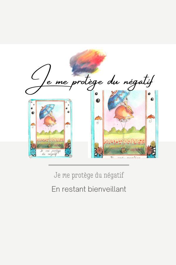 peinture-aquarelle-carte bien être-je me protège du négatif-simply bird-oiseaux-helene-valentin-auteure-illustratrice