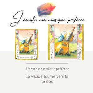 peinture-aquarelle-carte bien être-j'écoute ma musique préférée-simply bird-oiseaux-helene-valentin-auteure-illustratrice